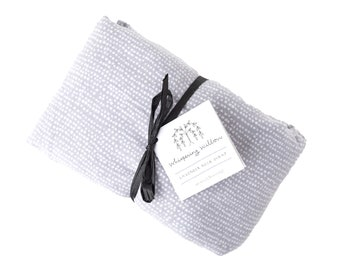 Tranquil Gray Organic Lavender Neck Wrap with Flax Seeds - Heat Wrap -  Perfect Self Care Gift for Her, Gift for Mom, Bridesmaid Gift