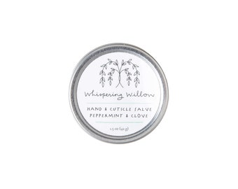 Peppermint Clove Hand & Cuticle Salve - Natural, All Purpose Skincare - Made with Essential Oils (Seasonal)