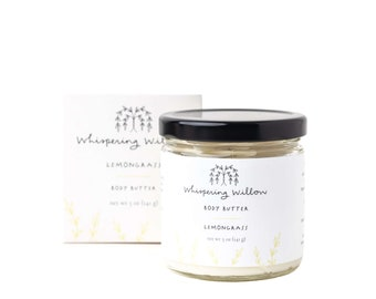 Lemongrass Natural Body Butter - Handcrafted with organic oils & essential oils