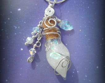 Glowing Magical Fairy Lantern Vial Necklace Pendant Glow in the Dark Tinkerbell 8 hour glow!