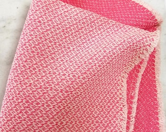 washcloth, two faced hot pink and pale pink