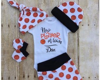 240e6595e2f5 Basketball Baby Boys Coming Home Outfit