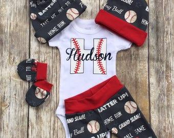 Baby Boy Baseball Coming Home Outfit de73a8f56