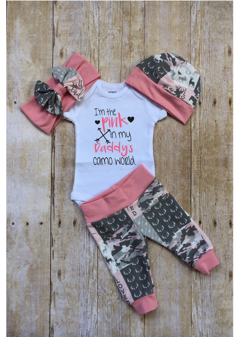 341a04e5d Pink Camo Coming Home Outfit I m the Pink in Daddy s