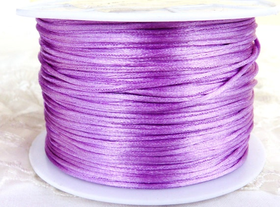 Free Shipping 6 Yards 1MM RATTAIL PURPLE