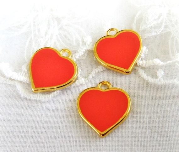 10X Enamel Rose Flower Charm Pendant 21*11mm For DIY Earrings//Bracelet//Necklace