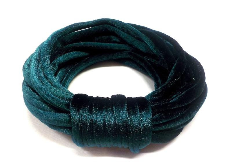 7mm Velvet Round Cord 1piece Dark Green Velvet Cord Tube Velvet Cord Choker Cord 1Yard 92cm Velvet Choker Green Tubing Fabric Cord