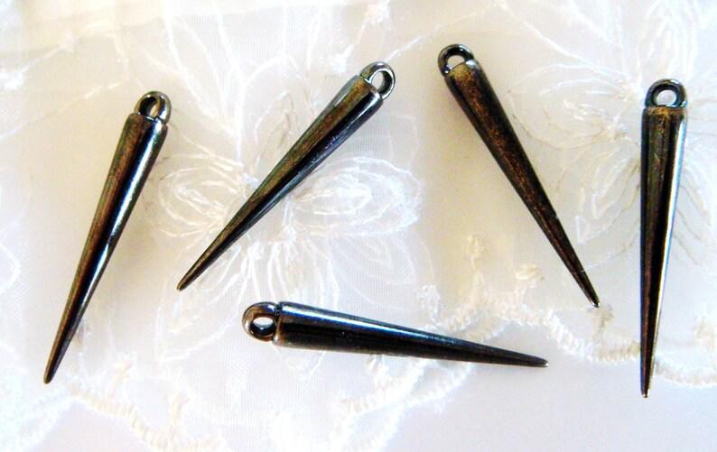 20 pieces CCB Spike Cone Beads Gun Metal Plated Lightweight Beads 5 x 35,5mm