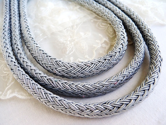 1 piece Semisoft Cord 46cm1.5 feet18 Champagne String Cord 8x10mm Oval Braided Trim Cord Licorice Style Rope