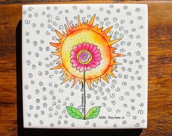 Friendship Flower Trivets - Set of 4