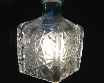 Glass Decanter Hanging Light