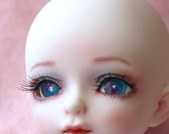 BJD doll eyes 16mm resin handmade aqua and lavender PEARL eyes