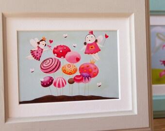 Girl nursery wall art, Girl nursery art, Girl nursery, Nursery girl, Art for girls room, Baby girl art, Girls artwork, Fairy wall art