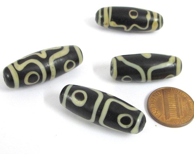 1 Bead - Tibetan agate  dzi bead from Nepal - agate gemstone dzi bead - GM003K