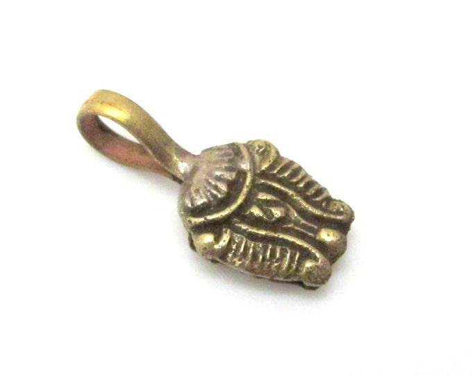 Tibetan lotus flower symbol Tibetan Brass mala counter - GB003A