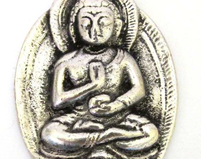 Oval shape Tibetan Buddha pendant - CP061