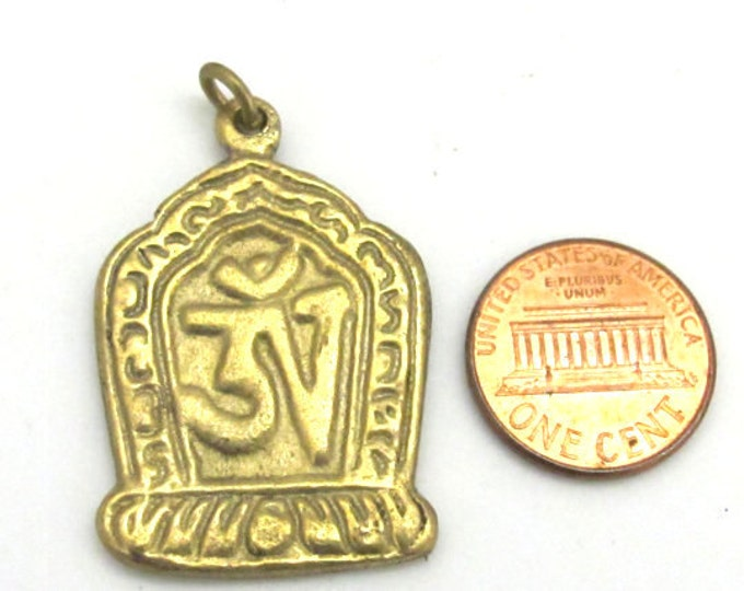 3 pendants set  - Tibetan Om Brass pendant from Nepal - CP067s