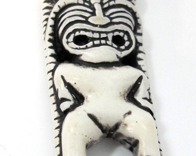 1 Pendant - Large Tribal Totem resin pendant - PB094