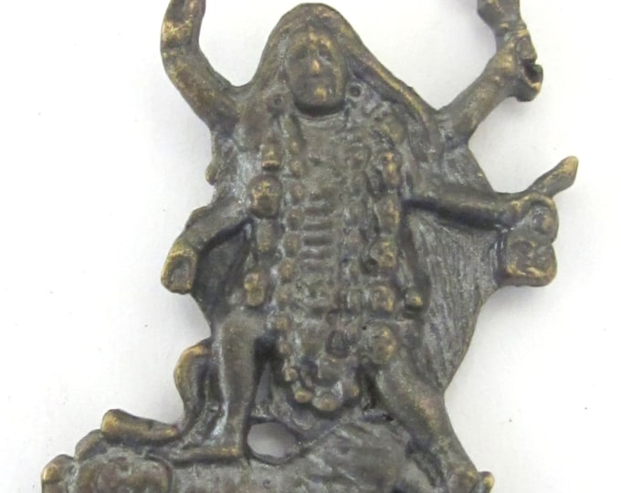 Antiqued finish Goddess Kali Shiva pendant from Nepal - CP042 custom design copyright Nepalbeadshop