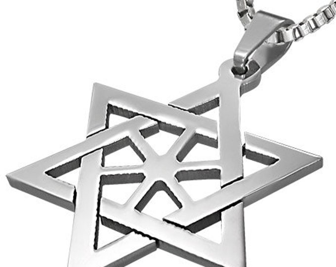 1 Pendant - Stainless Steel Star of David pendant - ST001A