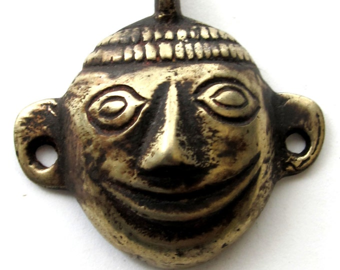 Naga headhunter tribal brass pendant - PM081