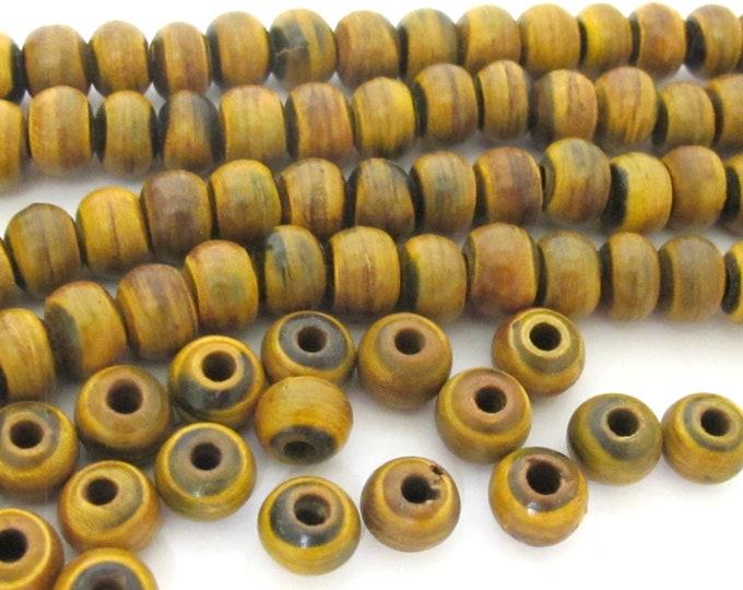 20 BEADS - Tibetan horn bone beads - ethnic nepal upcycled horn beads rondelle shape 8 mm size nepal beads tibetan beads  - ML129B