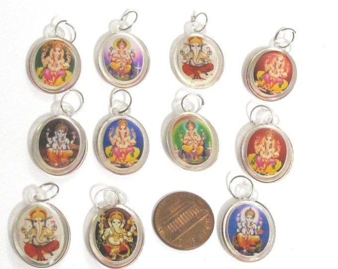 4 pcs  - Hindu lord Shree Ganesha goddess maa Lax