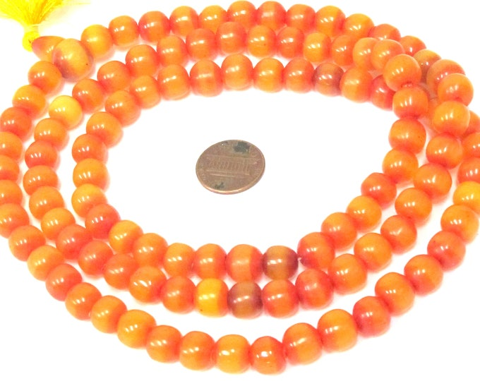 108 beads -  9 - 10 mm size  Light weight Tibetan resin mala beads with Guru bead supplies from Nepal - ML101A