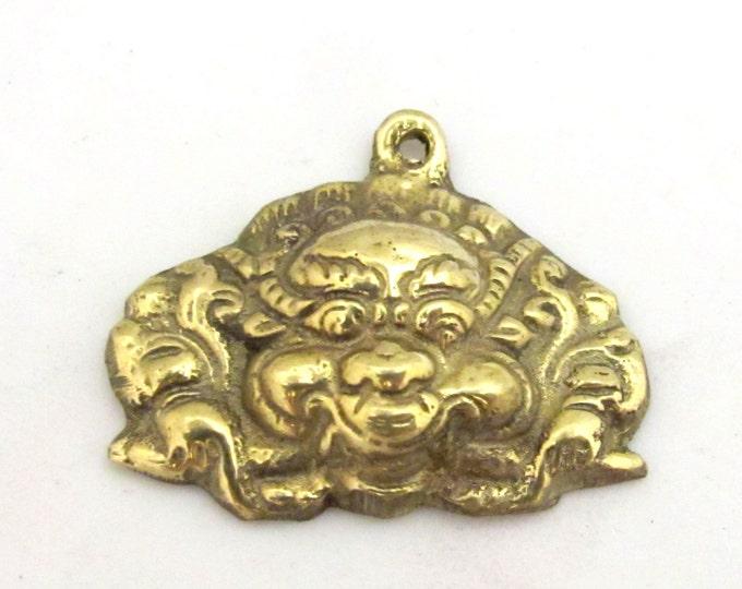 Tibetan brass pendant nepal pendant Ethnic Tibetan mahakala protector brass pendant  - CP081 custom design copyright Nepalbeadshop