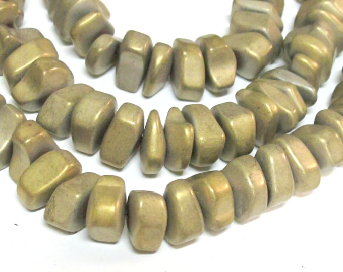 10 beads - Hematite nugget loose beads matte Bronze gold color gemstone Beads - GM151Ks