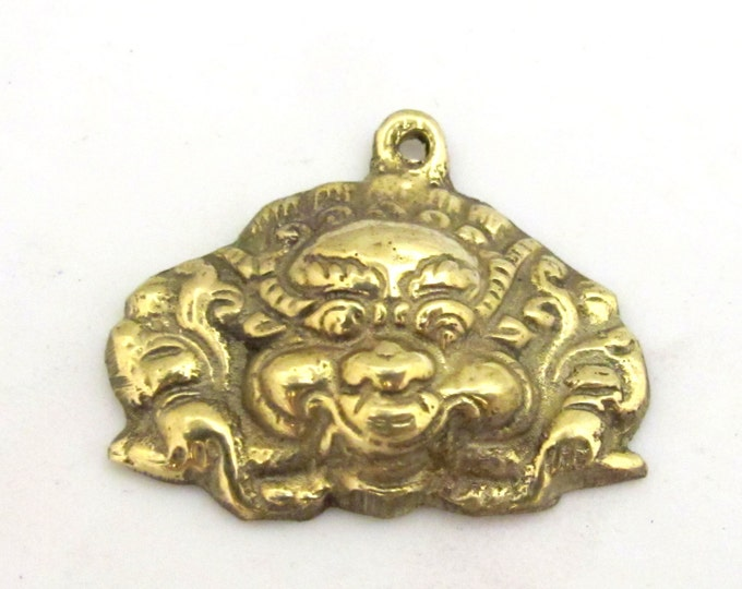 Ethnic Tibetan mahakala protector brass pendant  - CP081 custom design copyright Nepalbeadshop