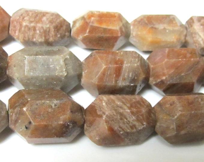 5 BEADS - Thick chunky natural Jasper stone beads - GM127