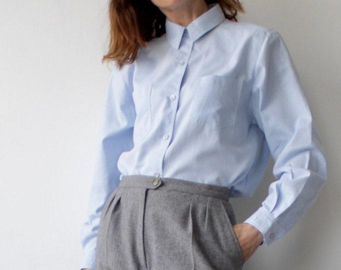 Featured listing image: Blue Vintage Viyella Pocket Everyday Blouse