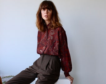 Marella Brown Autumn Print Blouse