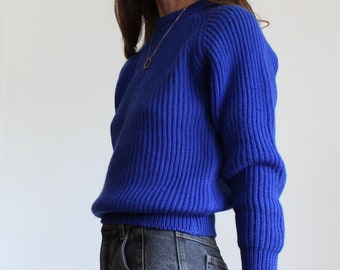 Vintage Ribbed Crew Neck Jumper by St Michael