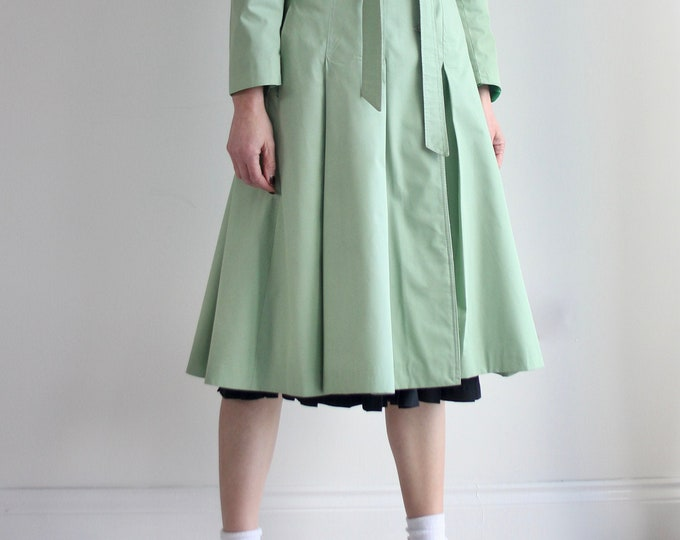 Mint Green Vintage Nino Plume Trench Dress Coat