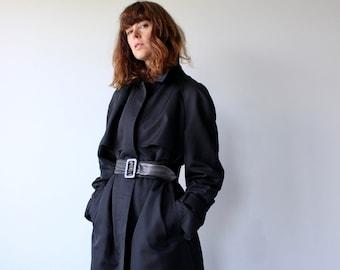 Black Trench Coat Aquascutum for Harrods