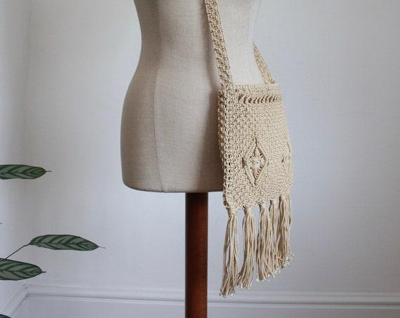 Woven Raffia Cord Boho Bag