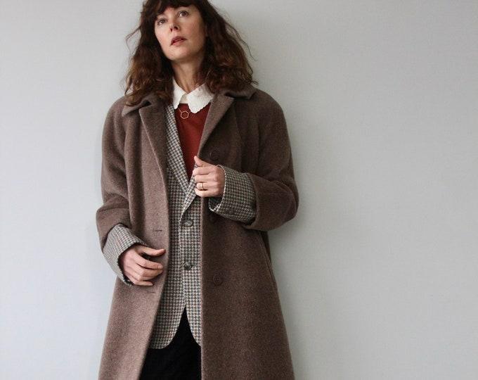 Vintage Brown Jlia Alpaca Coat