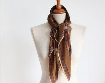 Vintage Silk Brown Scarf