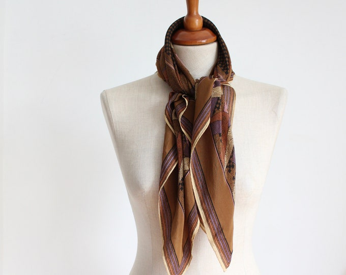 Featured listing image: Vintage Silk Brown Scarf