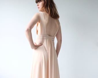 Maxi Nude Slip Dress