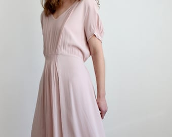 Vintage Pink Midi Dress By GHOST