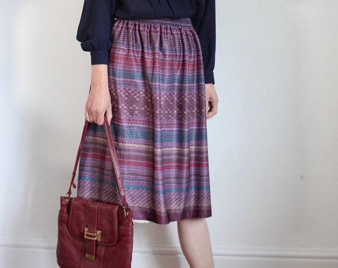 Pretty 70s Print Skirt