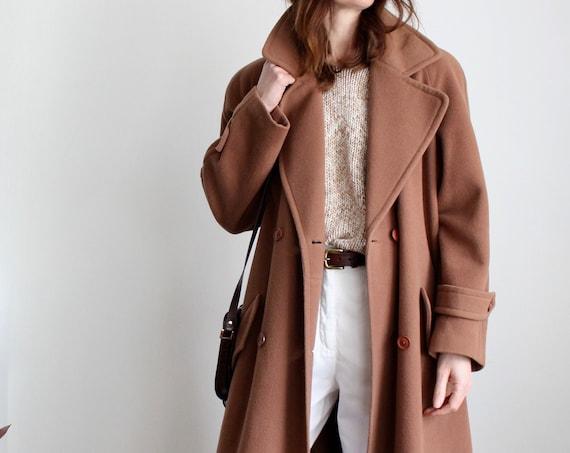 Vintage Brown Maxi Wool Coat