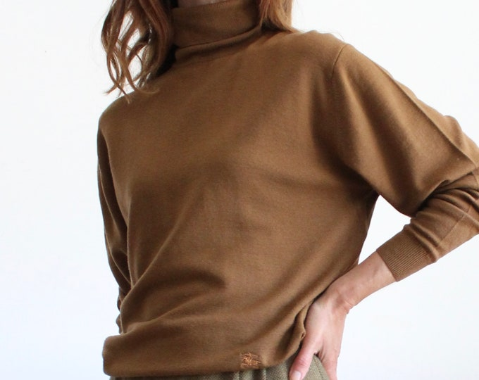 Featured listing image: Brown Polo Neck Merino Wool Jumper