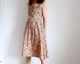 Vintage Betty Barclay Floral Print 1970s Sun Dress