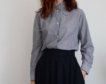 Mod 1960's Houndstooth Blouse