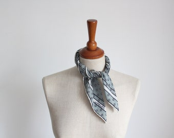 Jaeger Cotton Diamond Print Neck Scarf