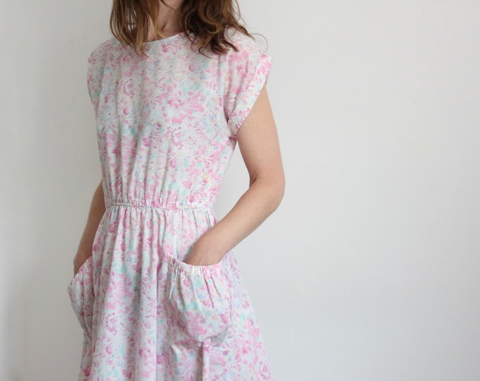 Pink 80's Summer Casual Dress By Dorothy Perkins UK 12-14